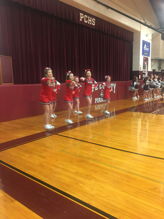 2018 GJH cheerleaders @ Pope Co