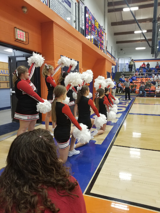 GHS cheerleaders in action!