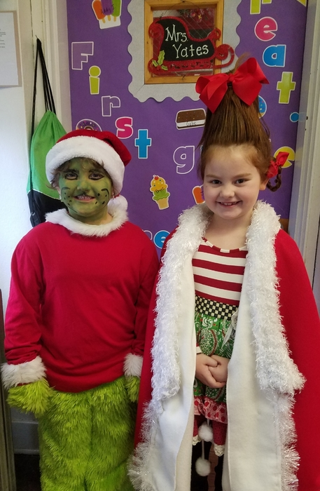 Ms. Grinch and Cindy Lou Who