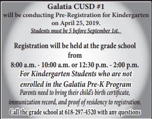 Pre-Registration for Kindergarten